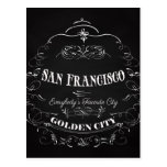 Arte de San Francisco California - la ciudad de Postal