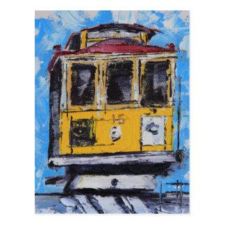 Arte de San Francisco, pintura del teleférico, Tarjeta Postal