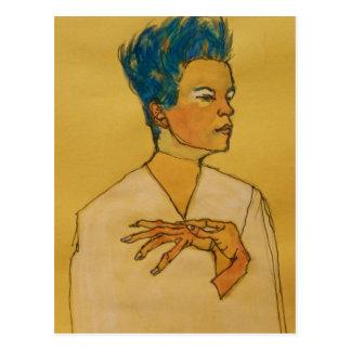 Arte de Schiele Tarjeta Postal