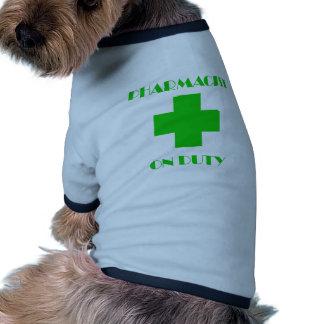 Arte de servicio del farmacéutico camisetas de mascota