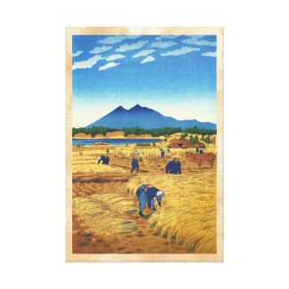 Arte de Shin Hanga Japón del tiempo de cosecha de  Lona Envuelta Para Galerías