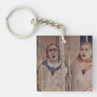 Arte de Simone Martini Llavero Cuadrado Acrílico A Una Cara