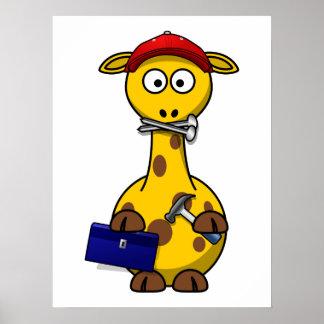 Arte de Toon de la jirafa de la manitas Posters