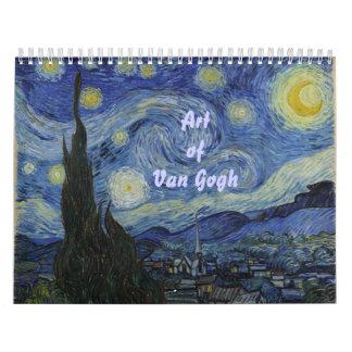 Arte de Van Gogh Calendario De Pared
