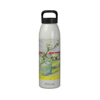 Arte de Van Gogh, rama floreciente de la almendra Botellas De Agua Reutilizables