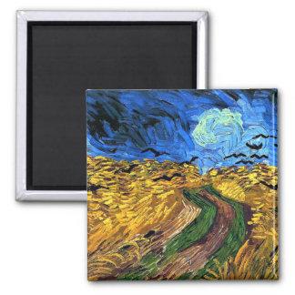 Arte de Van Gogh: Wheatfield con los cuervos Imanes