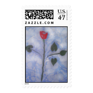 Arte de vetear franqueo del rosa rojo sello