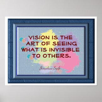 Arte de Vision de ver - poster del arte