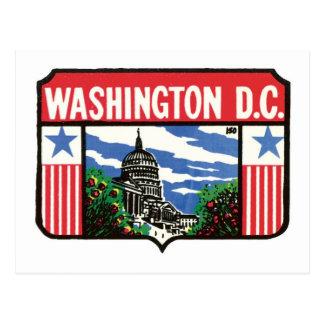 Arte de Washington D.C. State Label del viaje del Postal