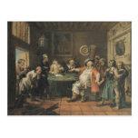 Arte de William Hogarth Postal