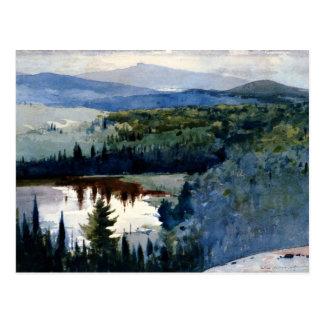 Arte de Winslow Homer, pueblo indio, Adirondacks Tarjetas Postales