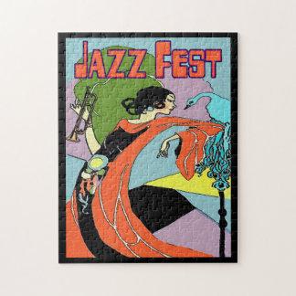 Arte Decco del Fest del jazz Rompecabeza