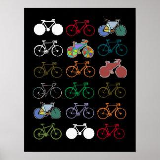 arte-decoración de la bici para las paredes póster