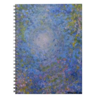 Arte decorativo de Anca Sofía: Deepinto el cielo Spiral Notebooks