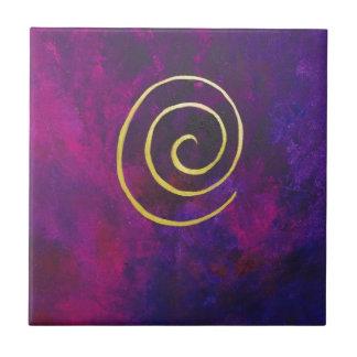 Arte decorativo de color morado oscuro del infinit azulejo cuadrado pequeño