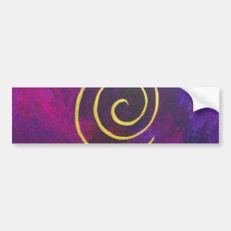 Arte decorativo de color morado oscuro del infinit pegatina de parachoque