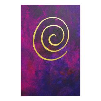 Arte decorativo de color morado oscuro del infinit papelería personalizada