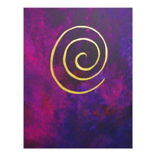 Arte decorativo de color morado oscuro del infinit plantilla de membrete