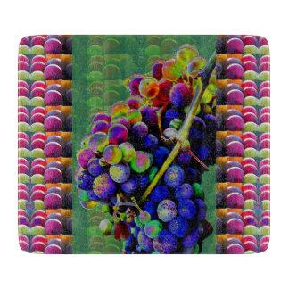 ARTE decorativo de la NATURALEZA de las UVAS del t Tabla De Cortar