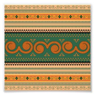 Arte decorativo de los modelos tradicionales de cojinete