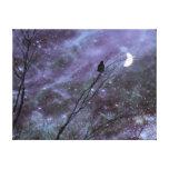 Arte decorativo del cuervo de la fantasía impresiones en lona