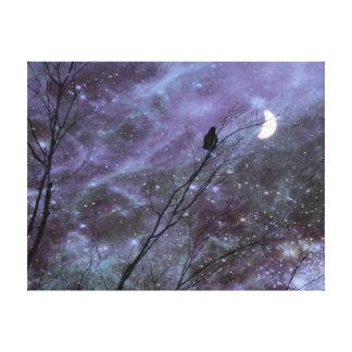 Arte decorativo del cuervo de la fantasía lienzo envuelto para galerias