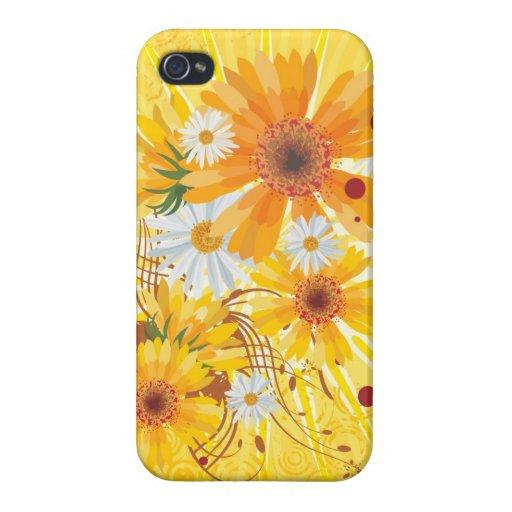 Arte decorativo floral iPhone 4 carcasa