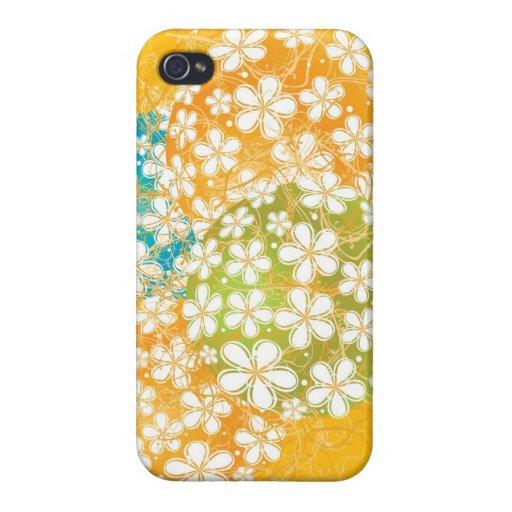 Arte decorativo floral iPhone 4 funda
