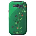 Arte decorativo floral verde galaxy SIII protectores