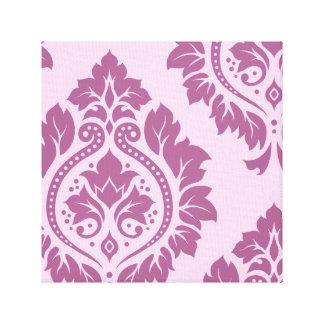 Arte decorativo I del damasco - ciruelo en rosa Impresiones En Lienzo Estiradas