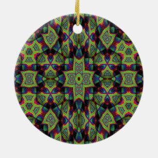 Arte decorativo moderno adorno redondo de cerámica