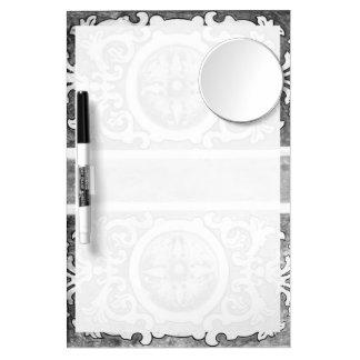 Arte decorativo tablero blanco