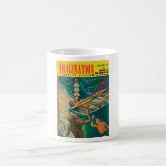 Arte del _02-1956_Pulp de la imaginación Taza De Café
