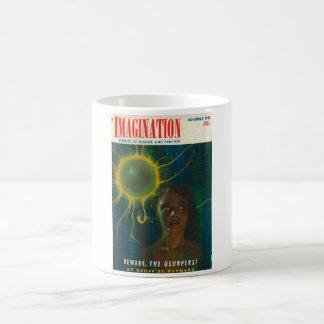 Arte del _11-1951_Pulp de la imaginación Taza