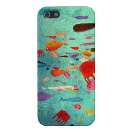 Arte del acuario colorido iPhone 5 coberturas