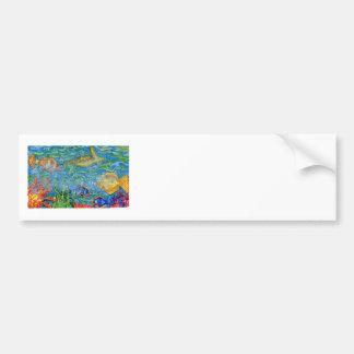 Arte del acuario de la fantasía etiqueta de parachoque
