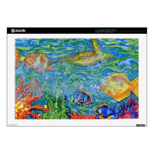 Arte del acuario de la fantasía skins para 43,2cm portátiles