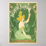 Arte del ajenjo del vintage de Blanqui del ajenjo Posters