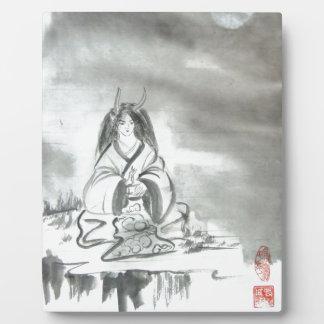 Arte del alcohol de la montaña de Oni del japonés Placa De Madera