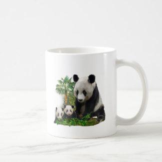 Arte del amor de la panda taza