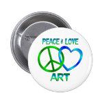 ARTE del amor de la paz Pins