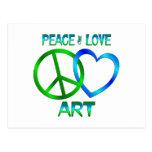 ARTE del amor de la paz Postal
