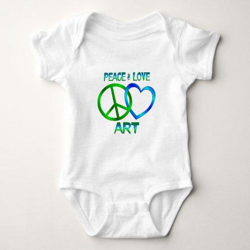 ARTE del amor de la paz T Shirts