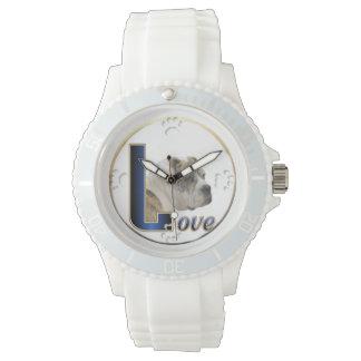 Arte del amor del dogo relojes de pulsera
