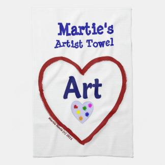 Arte del amor - toalla del artista (personalice)