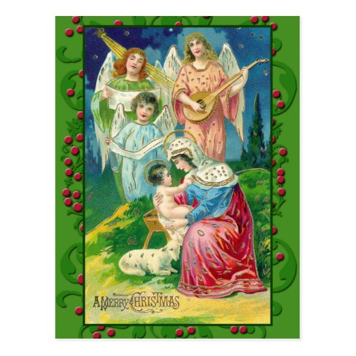Arte del ángel del Victorian en las tarjetas, post Postal