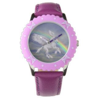 Arte del animal del arco iris del caballo del reloj de mano
