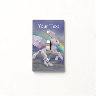 Arte del animal del arco iris del caballo del unic tapa para interruptor