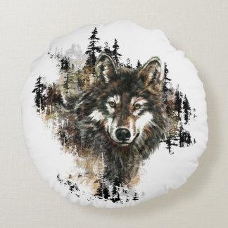 Arte del animal del desierto de montaña del lobo