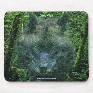 Arte del animal del Fauna-partidario del lobo gris Alfombrillas De Raton